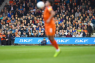 Luton Town fans watch the action in the first half during the EFL Sky Bet League 1 match between Luton Town and AFC Wimbledon at Kenilworth Road, Luton, England on 23 April 2019.