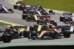 November 17, 2019, Sao Paulo, Brazil: Motorsports: FIA Formula One World Championship 2019, Grand Prix of Brazil, .#4 Lando Norris (GBR, McLaren F1 Team),.#3 Daniel Ricciardo (AUS, Renault F1 Team) (Credit Image: © Hoch Zwei via ZUMA Wire)