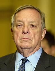 June 27, 2017 - Washington, District of Columbia, United States of America - United States Senate Minority Whip Dick Durbin (Democrat of Illinois) speaks to reporters following the Democratic Party luncheon in the United States Capitol in Washington, DC on Tuesday, June 27, 2017..Credit: Ron Sachs / CNP (Credit Image: © Ron Sachs/CNP via ZUMA Wire)