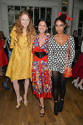 Left to right, LILY COLE, HIKARI YOKOYAMA and LIANNE LA HAVAS at The Women for Women International & De Beers Summer Evening held at The Royal Opera House, Covent Garden, London on 23rd June 2014.