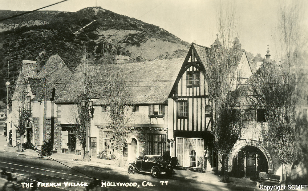 1932 The French Village on Highland Ave. at entrance to Cahuenga Blvd.