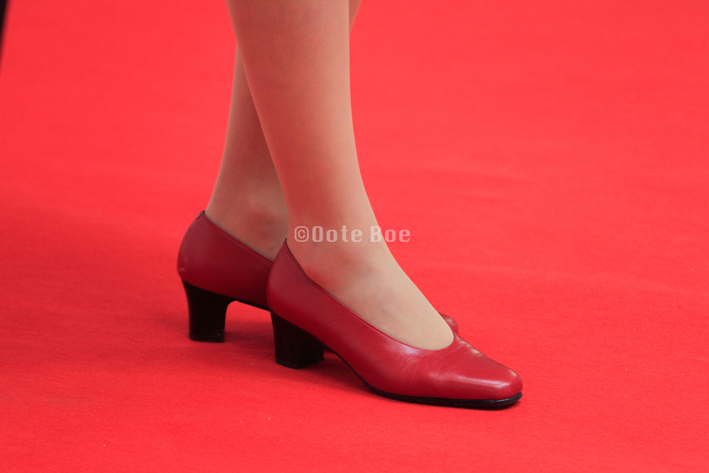 legs female person on the Red Carpet