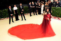 Nicki Minaj attending the Metropolitan Museum of Art Costume Institute Benefit Gala 2018 in New York, USA.