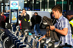 © under license to London News Pictures. 01/11/2010.Tube Strike, RMT and TSSA members strike over job cuts and safety issues.