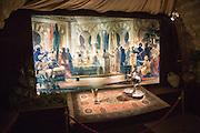 Tableaux display of a Moorish court, Torre de la Calahorra museum, Cordoba, Spain