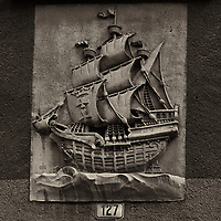 Artistic Ship Relief. Old Town Gdańsk walkabout during St Dominic's festival with a Fuji X-T1 camera.