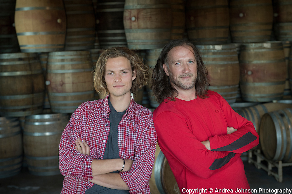 Pascal Brooks & Chris Williams, Brook portraits, Eola-Amity Hills, Willamette Valley, Oregon