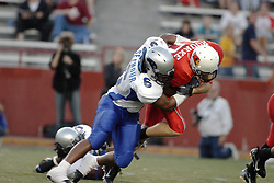 16 September 2006: Lucius Seymour wraps up the advance of Jake Rourke.  The Eastern Illinois Panthers and The Illinois State Redbirds have a long standing rivalry. This years competition commenced at Hancock Stadium on the campus of Illinois State University in Normal Illinois.