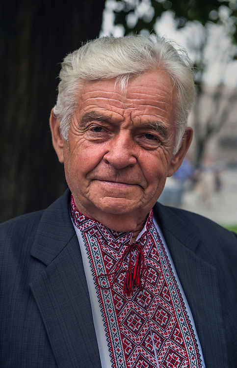 Portrait of Ukrainian man in traditional dress, Lviv