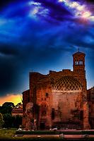 """""""The Temple of Venus and Rome with the Basilica of Santa Francesca Romana Campanile""""..."""