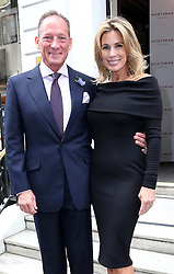 Image licensed to i-Images Picture Agency. 16/06/2014. Gregory Peck's son Anthony Peck and his wife arriving for the launch of a Gregory Peck exhibition at  Huntsman tailors in Savile Row, London, to celebrate five decades of dressing the Hollywood actor. Picture by Stephen Lock / i-Images