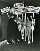 1943 Girls picketing outside the Earl Carroll Theater