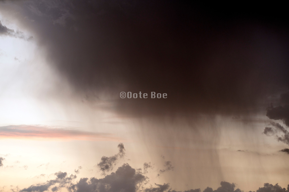 edge of a moving rain storm front