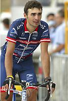 CYCLING - TOUR DE FRANCE 2004 - STAGE 13 - LANNEMEZAN > PLATEAU DE BEILLE - 17/07/2004 - PHOTO : NICO VEREECKEN / DIGITALSPORT<br /> PAVEL PADRNOS (RTC) / US POSTAL - BERRY FLOOR