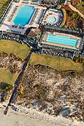 Aerial view of the Kiawah Island Beach Club on Kiawah Island, South Carolina.