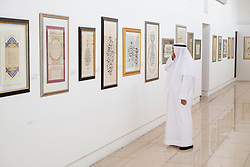 Sharjah, 3rd April 2014; Opening day of Sharjah Calligraphy Biennial held in Emirate of Sharjah in United Arab Emirates.