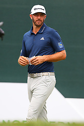 August 25, 2018 - Paramus, NJ, U.S. - PARAMUS, NJ - AUGUST 25:   Dustin Johnson of the United States on the first tee  during the third round of The Northern Trust on August 25, 2018 at the Ridgewood Championship Course in Ridgewood, New Jersey.   (Photo by Rich Graessle/Icon Sportswire) (Credit Image: © Rich Graessle/Icon SMI via ZUMA Press)