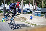 #161 (RAGOT RICHARD Mathis) FRA during practice at Round 5 of the 2018 UCI BMX Superscross World Cup in Zolder, Belgium