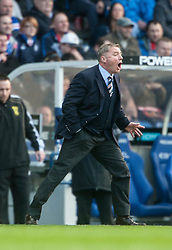 Glasgow Rangers manager Ally McCoist in the dugout during the recent game v Dundee Utd..©Michael Schofield..