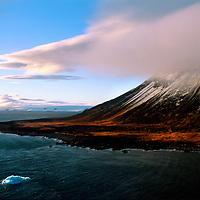 FRANZ JOSEF LAND, RUSSIA. Northbrook Island near Cape Flora & Arctic Ocean.