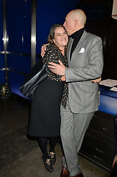 TRACEY EMIN and DYLAN JONES at a dinner hosted by Anya Hindmarch and Dylan Jones to celebrate the end London Collections: Men 2014 held at Hakkasan, 8 Hanway Place, London on 8th January 2014.