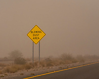 Blowing dust area