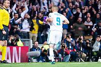 Real Madrid Karim Benzema during Semi Finals UEFA Champions League match between Real Madrid and Bayern Munich at Santiago Bernabeu Stadium in Madrid, Spain. May 01, 2018. (ALTERPHOTOS/Borja B.Hojas)
