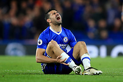 8 May 2017 - Premier League - Chelsea v Middlesbrough - Diego Costa of Chelsea reacts after being fouled - Photo: Marc Atkins / Offside.