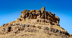 A rocky outcrop in the Moroccan desert near Tagounite in the far south of Morocco<br /> <br /> (c) Andrew Wilson | Edinburgh Elite media