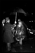 Margaret Thatcher arriving at the Winter Ball, Grosvenor House, Park Lane, February 1984.