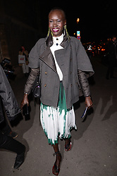 Alek Wek arriving at the H&M show as part of the Paris Fashion Week Womenswear Fall/Winter 2018/2019 in Paris, France on February 28, 2018. Photo by Julien Reynaud/APS-Medias/ABACAPRESS.COM
