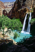 """On the Havasupai Indian Reservation, Havasu Falls, Creek, and Canyon flow into Grand Canyon, Arizona, USA. Published in """"Light Travel: Photography on the Go"""" book by Tom Dempsey 2009, 2010."""