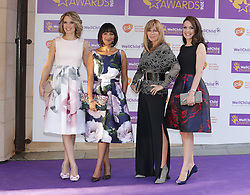 GMTV presenters (left to right) Charlotte Hawkins, Ranvir Singh, Kate Garraway and Laura Tobin attending the annual WellChild Awards at The Dorchester Hotel, London.