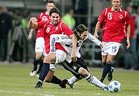 Fotball, 11. februar 2009 , Privatkamp , Tyskland - Norge<br /> Germany - Norway<br /> <br /> Martin Andresen , Norge og Torsten Frings ,Tyskland