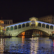 VENICE, ITALY - DECEMBER 08: Venice Grand Canal and a Rialto Bridge with Christmas lights is seen on December 8, 2011 in Venice, Italy. ) HOW TO LICENCE THIS PICTURE: please contact us via e-mail at sales@xianpix.com or call our offices in London   +44 (0)207 1939846 for prices and terms of copyright. First Use Only ,Editorial Use Only, All repros payable, No Archiving.© MARCO SECCHI