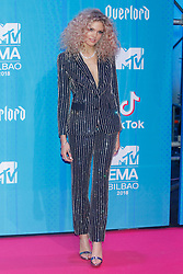 Becca Dudley attend the MTV Europe Music Awards held at the Bilbao Exhibition Centre, Spain on November 4, 2018. Photo by Archie Andrews/ABACAPRESS.COM