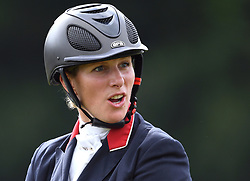 Members of the Royal Family attend the Festival of British Eventing at Gatcombe Park, Minchinhampton, Gloucestershire, UK, on the 5th August 2017. 05 Aug 2017 Pictured: Zara Tindall. Photo credit: James Whatling / MEGA TheMegaAgency.com +1 888 505 6342