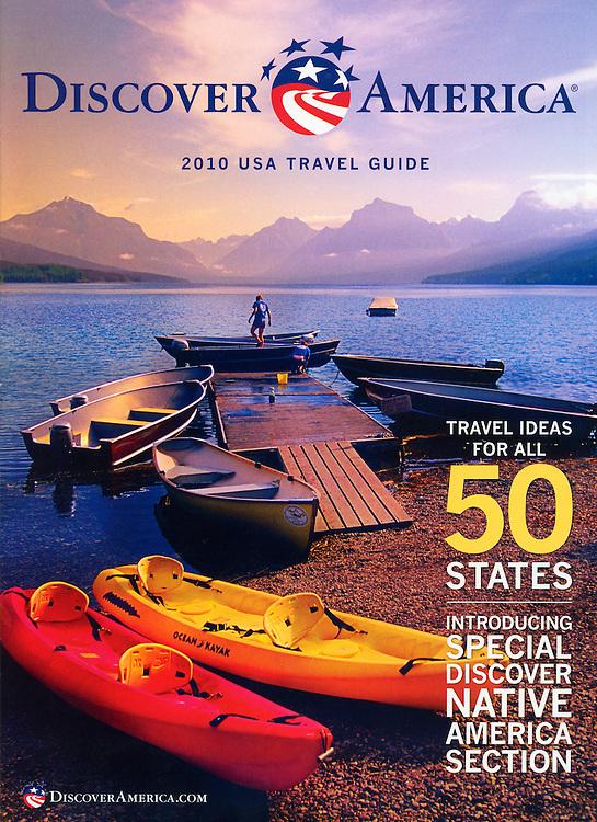 Discover America 2010 Travel Guide cover-Glacier National Park, Montana USA