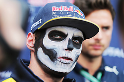 Max Verstappen (NLD) Red Bull Racing with Halloween themed face paint.<br /> 27.10.2016. Formula 1 World Championship, Rd 19, Mexican Grand Prix, Mexico City, Mexico, Preparation Day.<br />  <br /> / 271016 / action press