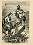 Naya Indians engraving on wood From The human race by Figuier, Louis, (1819-1894) Publication in 1872 Publisher: New York, Appleton