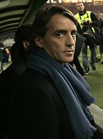 Milano 28-11-04<br /> <br /> Campionato di calcio Serie A 2004-05<br /> <br /> Inter Juventus<br /> <br /> nella  foto Roberto Mancini Inter Trainer<br /> <br /> Foto Snapshot / Graffiti