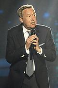 """Auftritt von Roland Kaiser bei der SRF-Pop-Schlager-Show """"Hello Again"""". Aufzeichnung vom 15. April 2018 in der Bodenseearena Kreuzlingen, Kanton Thurgau."""