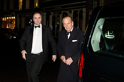 © Licensed to London News Pictures. 17/01/2012. Cambridge, UK. Prince Philip dines tonight as a guest of honour in Corpus Christi College, marking his first official public engagement since spending Christmas in Hospital. The private fundraising event for 100 guests is in aid of the university's Scott Polar Research Institute. Photo credit : Helen Cahill/LNP