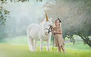 A dreamy portrait of a princess and her unicorn. Vacaville Portrait Photographer Kristina Cilia