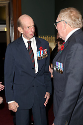 The Duke of Kent attends the annual Royal British Legion Festival of Remembrance at the Royal Albert Hall in Kensington, London.