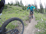 SHOT 8/5/17 2:31:32 PM - GoPro Hero 5 photos while riding Brian Head Resort in Brian Head, Utah with Vesta Lingvyte of Denver, Co. (Photo by Marc Piscotty / © 2017)