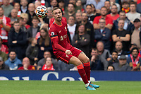 Football - 2021 / 2022 Premier League - Liverpool vs Burnley - Anfield - Saturday 21st August 2021<br /> <br /> Liverpool's Jordan Henderson in action during todays match