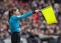 Football - 2018 / 2019 Premier League - Tottenham Hotspur vs. Newcastle United<br /> <br /> Assistant Referee Sian Massey Ellis signals for offside at Wembley Stadium.<br /> <br /> COLORSPORT/DANIEL BEARHAM