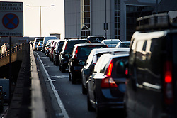 © Licensed to London News Pictures. 09/07/2015. London, UK. Stand still traffic backed up unusually early at 6.30am along the A40 at Paddington, London on the day of a network wide tube strike. Photo credit: Ben Cawthra/LNP