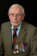 Mcc0061186 . Daily Telegraph<br /> <br /> Telegraph Magazine<br /> <br /> D Day Veterans<br /> <br /> Eric Johnston who served as a Trooper in 'A' Squadron, 4th/7th Royal Dragoon Guards  landing in Normandy on D Day in a Stuart tank as part of a Recce detachment . <br /> <br /> 26 March 2015